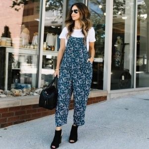 RARE Anthropologie Maeve Tidal Jumpsuit Overall S